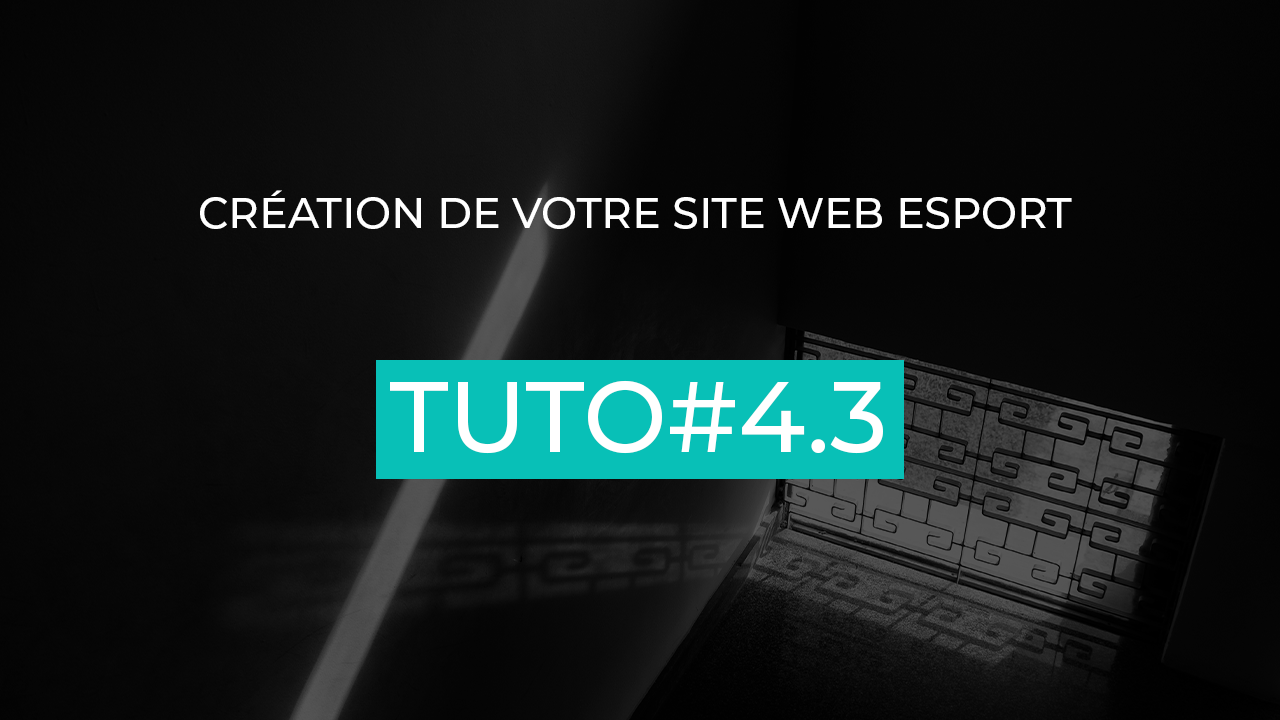 architecture site web esport