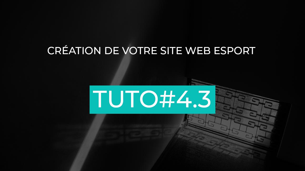 architecture site web esport