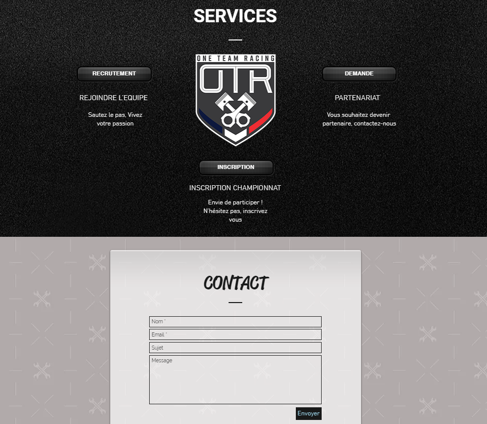 contact architecture site web esport