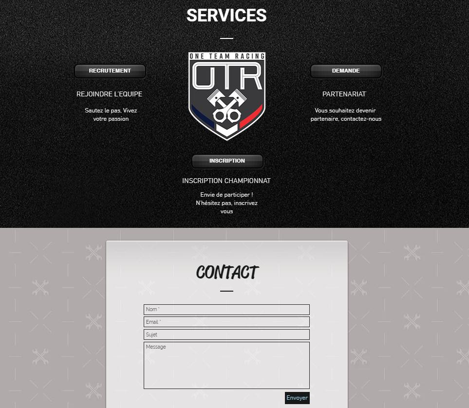 contact architecture site web esport