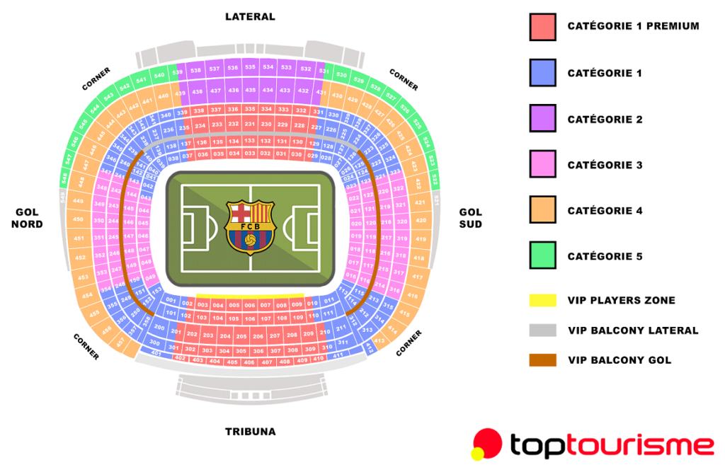 places au camp nou FC Barcelone